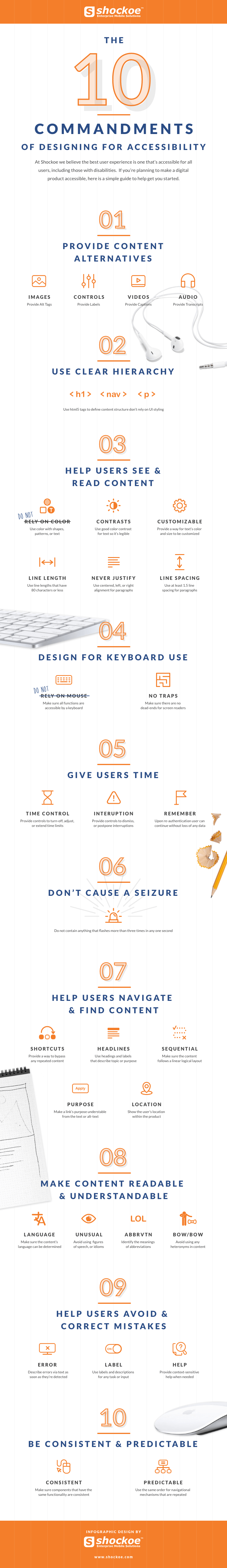 10 Commandments of Designing for Accessibility