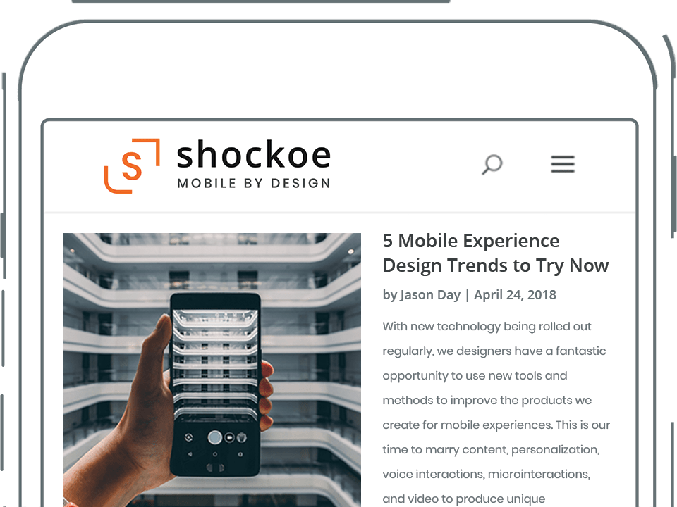 Shockoe Blog Screenshot