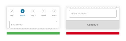 progress trackers in banking app